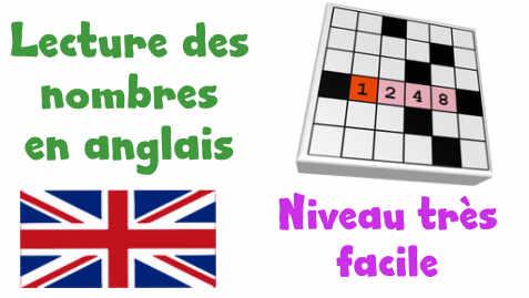 Niveaux Des Exercices De Lecture Des Nombres En Anglais En Mots Croises